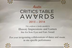 AADT Critics Table Award